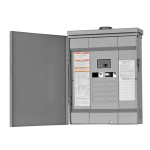 Square D HOM1224M100PRB Load Center, Homeline, Main Breaker, 100A, 12/24, 120/240V, NEMA 3R