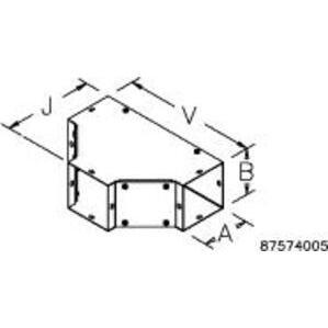 nVent Hoffman F44TGV Hoff-e F44tgv 4x4 Tee Fitting