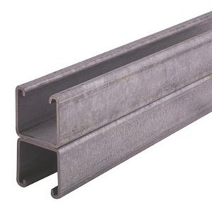 """Unistrut P1001-10HG Channel - Back To Back, Steel, Hot-Dipped Galvanized, 1-5/8"""" x 3-1/4"""" x 10'"""