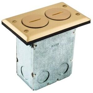 RF6500BR FLR BOX KIT 15A DUPLEX BRASS