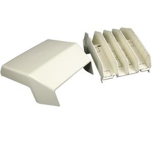 Wiremold 5415 Raceway Tee Fitting, 5400 Series, PVC, Ivory