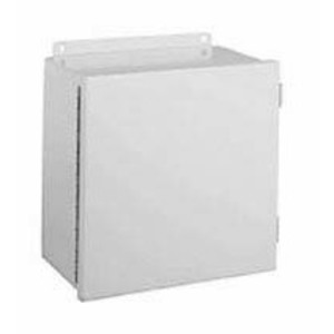 "Hubbell-Wiegmann B121206CH Junction Box, NEMA 12, Hinged Cover, 12"" x 12"" x 6"" Steel"