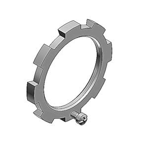 "Thomas & Betts 106 Locknut, Type: Bonding, Size: 1/2"", Steel"