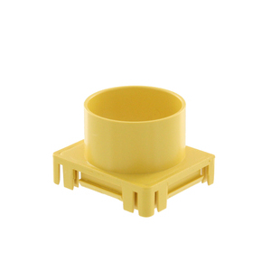 """S2END-OUT YEL 2""""X2"""" END CAP TUBE OUTLET"""