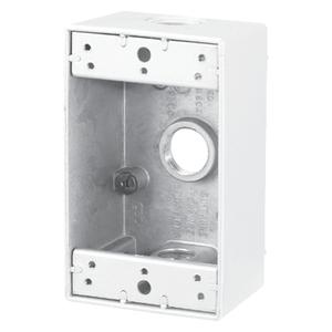 S100WHCN BOX W/P 1G WHITE 3 1/2 HOL