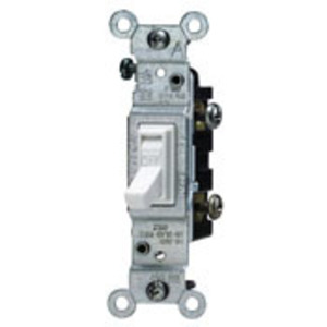 14512W NONCSA 15A S/P 120V SWITCH WH