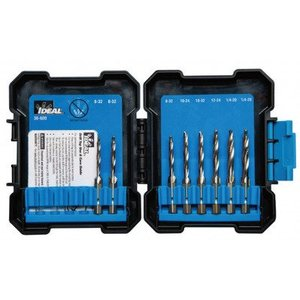 Ideal 36-600 Drill Tap Kit, 8-Piece, With Case