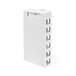 410896WP 6 PORT WHITE SURFACE BOX