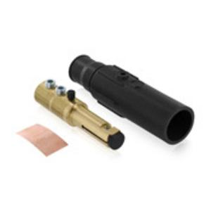 Leviton 17D21-E Male, Plug, Cam-Type, Double Set Screw, 250-350 MCM, Black