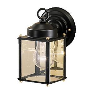 Kichler 9611BK Wall Lantern, Outdoor, 1-Light, 60W, Black