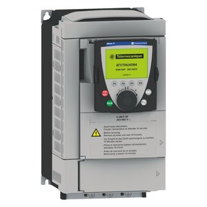 Square D ATV61HU75M3 Variable Speed Drive, Altivar 61, 5.5kW, 7. 5HP, With Heat Sink *** Discontinued ***