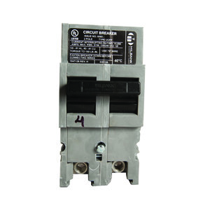Milbank UQFP-125 Breaker, Plug-In, 125A, 240VAC, 2P, 1PH, Thermal Magnetic, 10kAIC