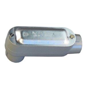 "Appleton LB-50ACGA Conduit Body With Cover/Gasket, Type: LB, Size: 1/2"", Aluminum"