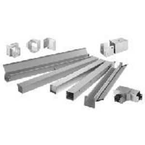 """nVent Hoffman F66GPAGV Wireway Panel Adapter, Type 1, Lay-In, 6"""" x 6"""", Steel, Galvanized"""
