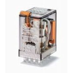 Finder Relays 55.34.9.024.0040 Relay, Ice Cube, Miniature, 14 Blade, 7A, 4P, 24VDC Coil, Options