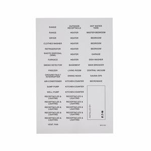 BP3110C PANEL IDENTIFICATION LABEL 50/PK