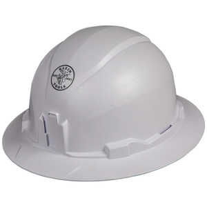 Klein 60400 Hard Hat, Non-vented, Full Brim Style