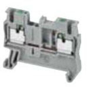 Square D NSYTRP22 Terminal Block, 5.2mm, Feed Through, Gray, 20A, 600VAC, Push In