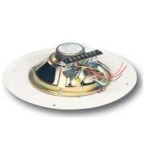 """Bogen S86T725PG8WVR Ceiling Speaker, 4 - 1/8 Watt, 25/70V AC, 8"""" Diameter, Off White"""
