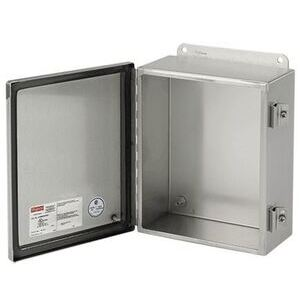 nVent Hoffman JOB819SJ Wall Mount Enclosure, Continuous Hinge With Clamps