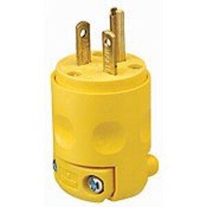 Leviton 620PV Plug, 20A, 250V, 6-20P, 2P3W, PVC, Yellow