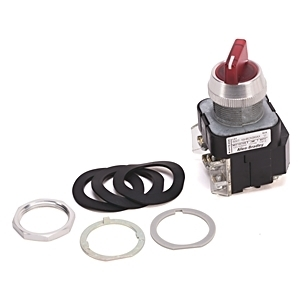 Allen-Bradley 800T-16HG2KB6DX Selector Switch, 2-Position, Illuminated, 120VAC, Green, 1NO