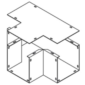 """Cooper B-Line 22-T Wireway Tee, Type 1, 2-1/2"""" x 2-1/2"""", Steel, Gray"""