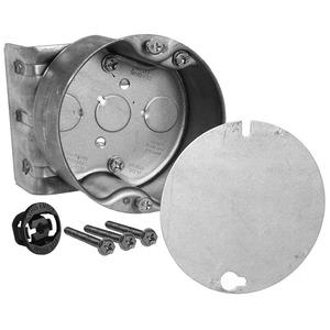 "Hubbell-Raco 294-1 4"" Octagon Ceiling Box, 2-1/8"" Deep, KOs, Metallic"