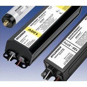 SYLVANIA QTP-2X59T8/UNV-ISN-SC Electronic Ballast, Fluorescent, T8, 2-Lamp, 59W, 120-277V