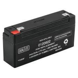 Hubbell-Dual-Lite 012-0922 Rechargeable Sealed Lead Acid Battery, 6V, 3.5A