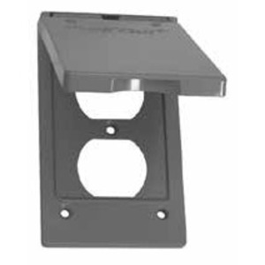 EGS WVD1 Weatherproof Cover, 1-Gang, Type: Duplex or Switch, Vertical