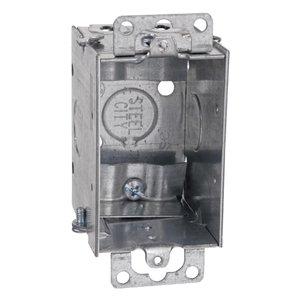 "Steel City LXWOW-25 Switch Box, Gangable, 2-1/2"" Deep, NM Clamps, Ears"