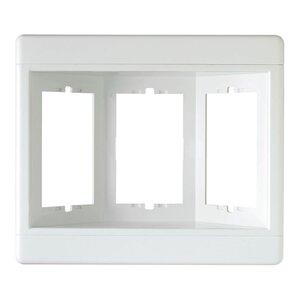 Pass & Seymour TV3W-W Recessed TV Box Frame 3-Gang White