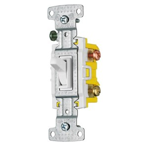 Hubbell-Wiring Kellems RS315W Three-Way Switch, 15A, 120V AC, White, Residential
