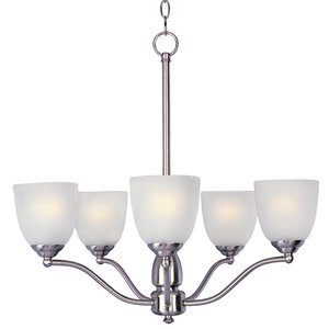 Maxim Lighting 10065FTSN Chandelier, 5-Light, 60W, Incandescent,  Satin Nickel