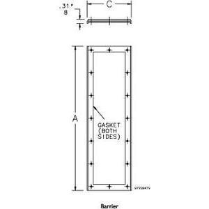 "Hoffman AMOD8418BAP Barrier Plate for Modular Enclosures, Size: 84"" x 18"""