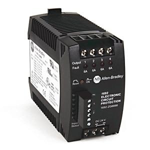 Allen-Bradley 1692-ZG6666 Electronic Circuit Protection (ECP), 24VDC, Protection, 6A, 6A, 6A, 6A