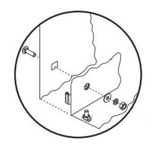 """Allen-Bradley 598-N3 Enclosure Mounting Pad Foot Kit, 9.686"""" x 11"""", Steel"""
