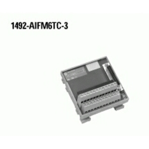 Allen-Bradley 1492-AIFM6TC-3 Wiring Module, 6 Channel Thermocouple, 3 Terminals per Channel