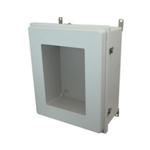 "Allied Moulded AM24208SO7 Enclosure, NEMA 4X, Hinged Window With Twist Latches, 24"" x 20"" x 8"" *** Discontinued ***"