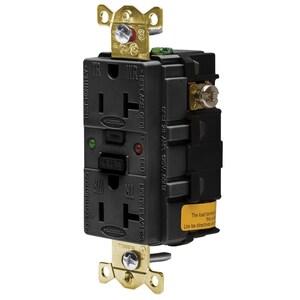 Hubbell-Wiring Kellems GFR5362SGBK 20A/125V INDL.