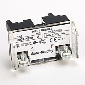 Allen-Bradley 800T-N330 Power Module, Full Voltage, 6-130V AC/DC, LED