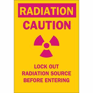 25292 RADIATION & LASER SIGN