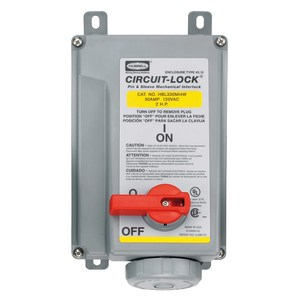 Hubbell-Wiring Kellems HBL330MI4W PS, IEC, MECHINT, 2P3W, 30A 125V, W/T