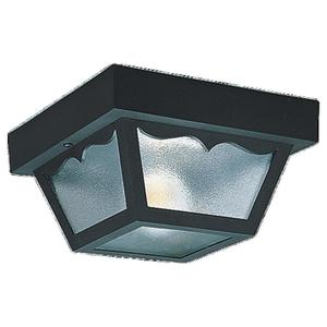 Sea Gull 7569-32 Ceiling Light, Outdoor, 2-Light, 60W, Black