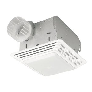 Broan 678 Ceiling Fan/Light, Fluorescent, 50 CFM