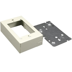Wiremold V5741 Device Box, 1-Gang, 500/700 Series, Ivory