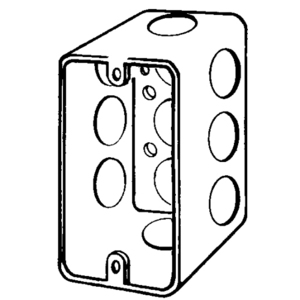 "Appleton 4SSLD-1/2 Handy Box, 2-1/2"" Deep, 1/2"" KOs, Drawn, Steel"