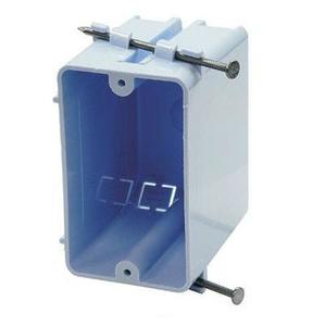"Cantex EZ20SN Switch/Outlet Box, 1-Gang, Depth: 3-1/4"", Nail-On, Non-Metallic"
