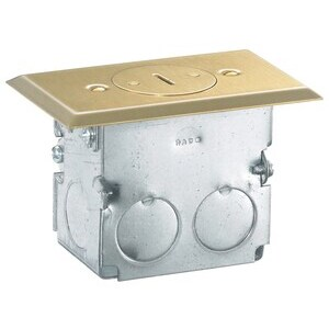 RF151TR FLR BOX 15A 125V SGL TR CMPLT BR